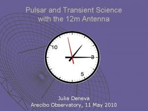 Pulsar and Transient Science with the 12 m
