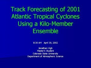 Track Forecasting of 2001 Atlantic Tropical Cyclones Using
