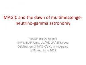 MAGIC and the dawn of multimessenger neutrinogamma astronomy