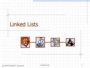 Linked Lists 2004 Goodrich Tamassia Linked Lists 1