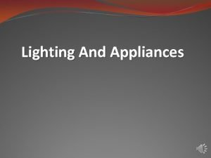 Lighting And Appliances Lighting With FLi P the