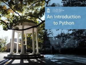 An Introduction to Python Title What is Python