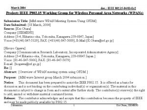 March 2004 doc IEEE 802 15 040141 r