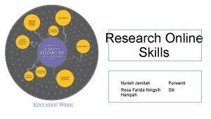 Research Online Skills Nuriah Jamilah Purwanti Resa Farida