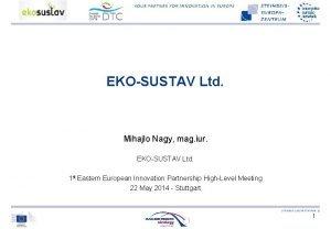 EKOSUSTAV Ltd Mihajlo Nagy mag iur EKOSUSTAV Ltd