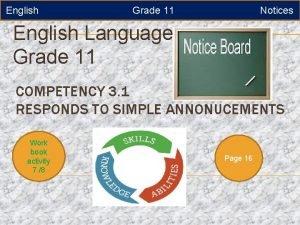 English Grade 11 Notices English Language Grade 11