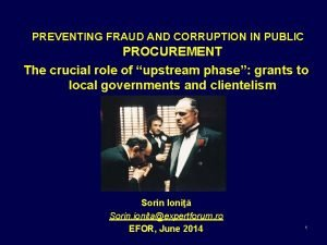 PREVENTING FRAUD AND CORRUPTION IN PUBLIC PROCUREMENT The