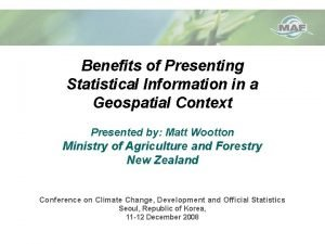 Benefits of Presenting Statistical Information in a Geospatial