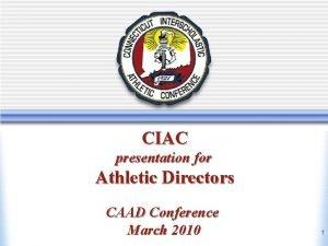 Athletic Directors Workshop March 2010 New Athletic Directors