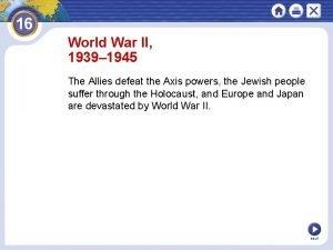 World War II 1939 1945 The Allies defeat
