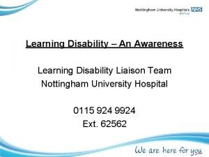 Learning Disability An Awareness Learning Disability Liaison Team