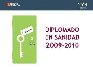 do a lom Dip Salud Pblica DIPLOMADO EN