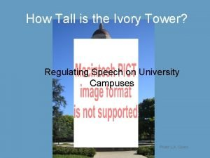 How Tall is the Ivory Tower Regulating Speech