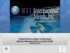 Federal Reserve Bank of Cleveland Inflation Monetary Policy