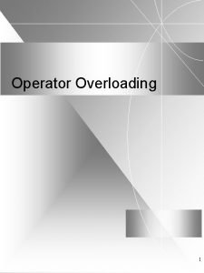 Operator Overloading 1 Syntax The general syntax is