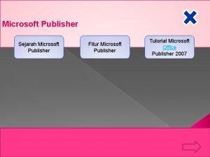 Microsoft Publisher Sejarah Microsoft Publisher Fitur Microsoft Publisher