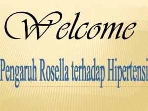 Rosella Klasifikasi dan bagianbagian Rosella Kandungan Rosella Klasifikasi