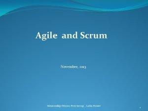 Agile and Scrum November 2013 Mentorship Ottawa Peer