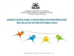 GOVERNO DO ESTADO DO TOCANTINS SECRETARIA DO TRABALHO