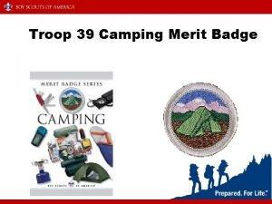 Troop 39 Camping Merit Badge Rank Requirements Tenderfoot