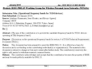 January 2015 doc IEEE 802 15 15 0052