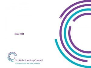 Scottish Funding Council Funding of colleges in Scotland