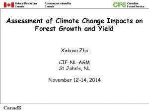 Natural Resources Canada Ressources naturelles Canada CFS Canadian