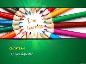 CHAPTER 4 The Karnaugh Map The Karnaugh Map