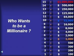 Who Wants to be a Millionaire 15 14