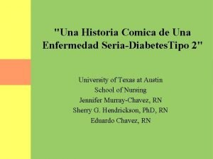 Una Historia Comica de Una Enfermedad SeriaDiabetes Tipo