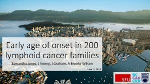 Early age of onset in 200 lymphoid cancer