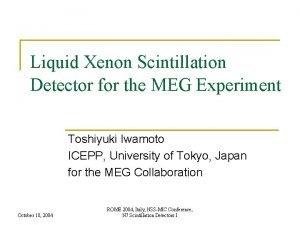 Liquid Xenon Scintillation Detector for the MEG Experiment