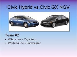 Civic Hybrid vs Civic GX NGV Team 2