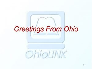 Greetings From Ohio 1 Greetings From Ohio EW