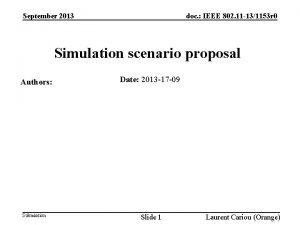 doc IEEE 802 11 131153 r 0 September