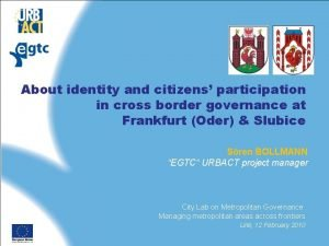 About identity and citizens participation in cross border