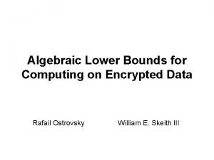 Algebraic Lower Bounds for Computing on Encrypted Data