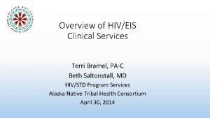 Overview of HIVEIS Clinical Services Terri Bramel PAC
