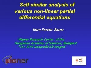 Selfsimilar analysis of various nonlinear partial differential equations