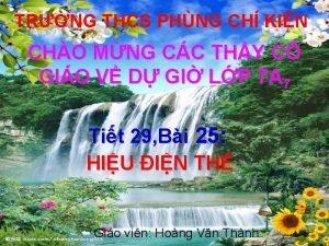 TRNG THCS PHNG CH KIN CHO MNG CC