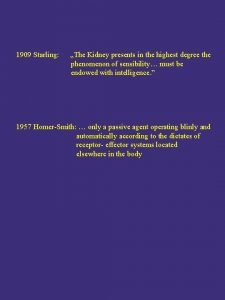 1909 Starling The Kidney presents in the highest
