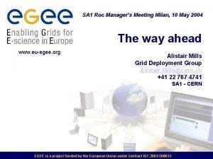 SA 1 Roc Managers Meeting Milan 10 May