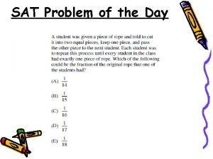 SAT Problem of the Day SAT Problem of