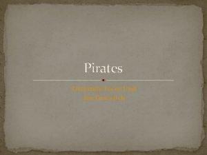 Pirates Literature Focus Unit Jen Draovitch Literature Selection
