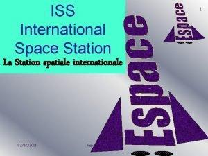ISS International Space Station La Station spatiale internationale