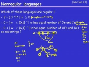 Nonregular languages Section 1 4 Which of these