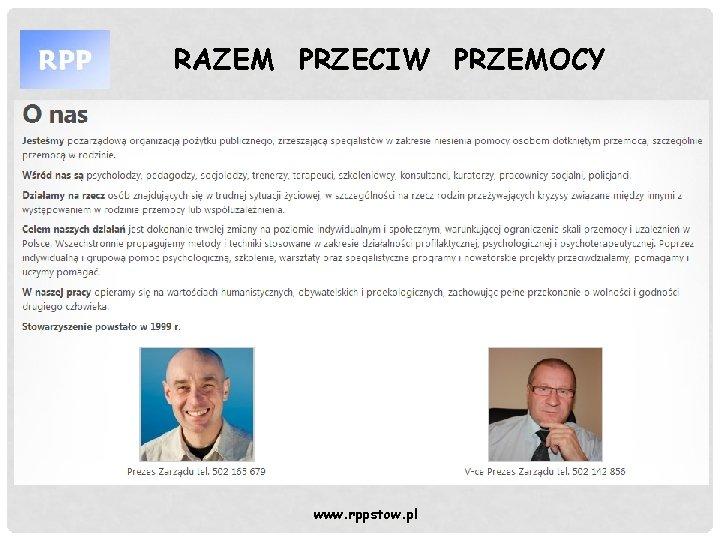 RAZEM PRZECIW PRZEMOCY www rppstow pl RAZEM PRZECIW