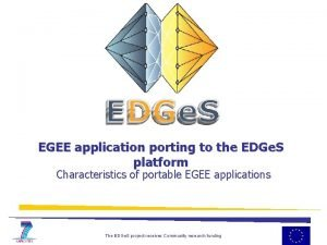 EGEE application porting to the EDGe S platform