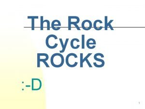 The Rock Cycle ROCKS D 1 Rocks in