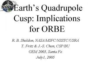 Earths Quadrupole Cusp Implications for ORBE R B